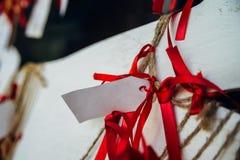 Attachement des rubans du désir Photo stock