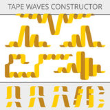 Attachez du ruban adhésif au constructeur de vagues Photographie stock libre de droits