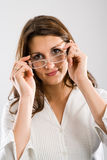 Attaching glasses Stock Photo