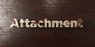 Attachment - grungy wooden headline on Maple  - 3D rendered royalty free stock image Stock Image