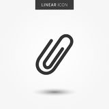 Attachment icon vector illustration Stock Images