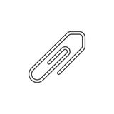 Attachment paper clip thin line icon, outline vector logo illust Royalty Free Stock Photo