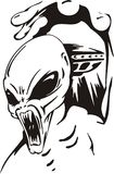 Attack of aliens. Vector illustration. Ready for vinyl cutting Royalty Free Stock Photos