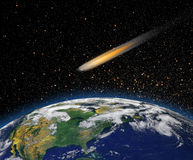 Attack of the asteroid on the Earth Stock Photo