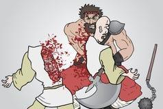 Attack barbarian Royalty Free Stock Photos