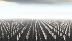Attack of the Clones. A thousand clones wait patiently stock illustration