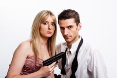 Attack, Couple, Dangerous royalty free stock photography