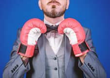Attack and defense concept. Achieve success. Tactics proven to work. Criminal defense lawyer planning out strategies. Businessman wear boxing gloves. Best stock photos