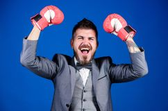 Attack and defense concept. Tactics proven to work. Achieve success. Criminal defense lawyer planning out strategies. Businessman wear boxing gloves. Best stock photos