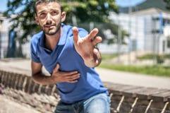 attack heart keeps man στοκ φωτογραφία με δικαίωμα ελεύθερης χρήσης