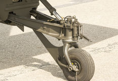 Attack helicopter landing gear Royalty Free Stock Images