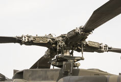 Attack helicopter main rotor Stock Photos