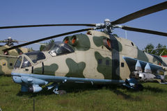 Attack helicopter MI-24 Royalty Free Stock Images
