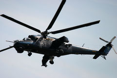 Attack helicopter  at RAF Fairford air tattoo Stock Photo