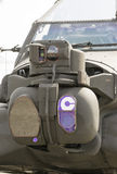 Attack helicopter sensors system Royalty Free Stock Photography