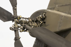Attack helicopter tail rotor. Modern attack helicopter tail rotor mechanism with four blades Stock Images
