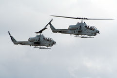 Attack helicopters Stock Images