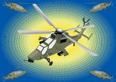 Attack helicopters Royalty Free Stock Images
