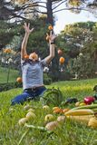 The attack of the mandarins Royalty Free Stock Image