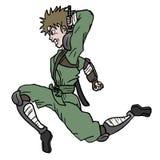 Attack ninja jump Stock Photography