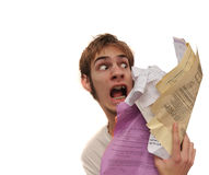 Attack of the paperwork Stock Image