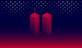 911 Attack Remembrance Memorial Day banner vector illustration. September 11 2001, USA, 911 memorial. The United States National Remembrance Day abstract Vector Illustration