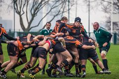Attack in Rugby Royalty Free Stock Images