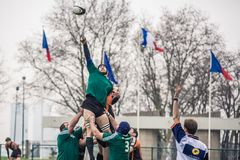 Attack in Rugby Royalty Free Stock Photography