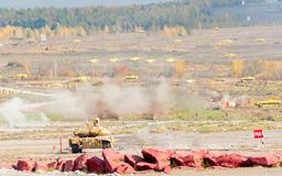 Attack of T90S tank Royalty Free Stock Photos