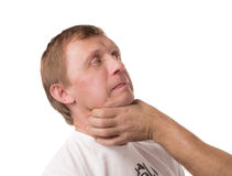 Attack to the head for defeat. Stock Images