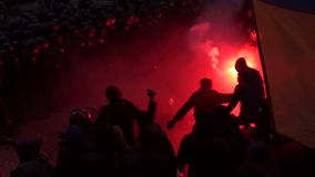 Attack. Ukraine. Kiev, protesters stormed the presidential administration