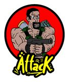 Attack war icon Stock Image