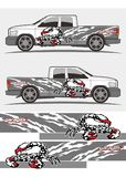 Attacked Scorpion decal Graphics Kits design for trucks and van. Professional graphics design decal kits for van vehicle and truck Stock Photography