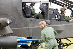 Attackhelikopter för AH/64 Apache Arkivbilder