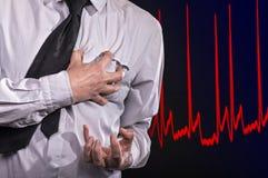 attackhjärta håller mannen Fotografering för Bildbyråer