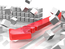 Attacking barriers Stock Photo