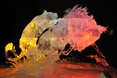 Attacking Claws Ice Sculpture  Royalty Free Stock Image