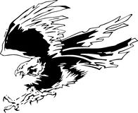 Attacking Eagle 4 vector illustration
