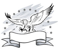 Attacking Eagle Insignia Stock Image