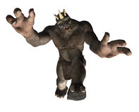 Attacking Troll. A giant troll is attacking you - 3D render Royalty Free Stock Photos