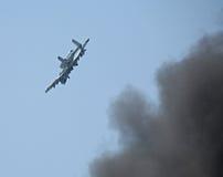attackjordning för 10 flygplan Arkivbild