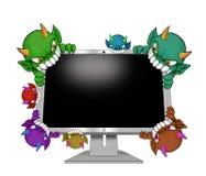 attackvirus royaltyfri illustrationer