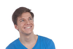Attactive young man smiling Stock Images