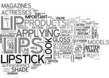 Attain Kissable Lips Word Cloud Royalty Free Stock Image