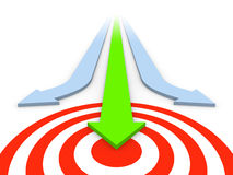 Attain the target royalty free illustration