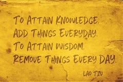 Attain wisdom Lao Tzu stock photography