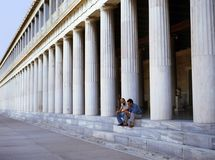 Attalus Stoa在雅典 免版税库存照片