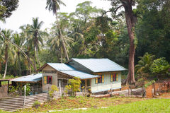 Attap House on Pulau Ubin, Singapore Royalty Free Stock Photo