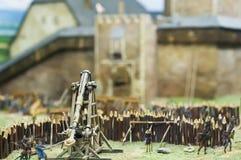 Attaque à un château Images libres de droits
