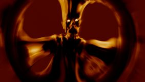 Attaque ardente de démon de colère illustration 3D Images libres de droits
